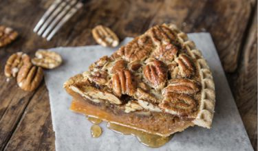 Our Pecan Pies are made fresh daily at the Pappas Bakery